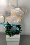 Bolacha decorada festa Batizado anjos  Nuvem Valinhos Sjcampos