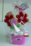 Bolacha decorada festa flores Valinhos Sjcampos
